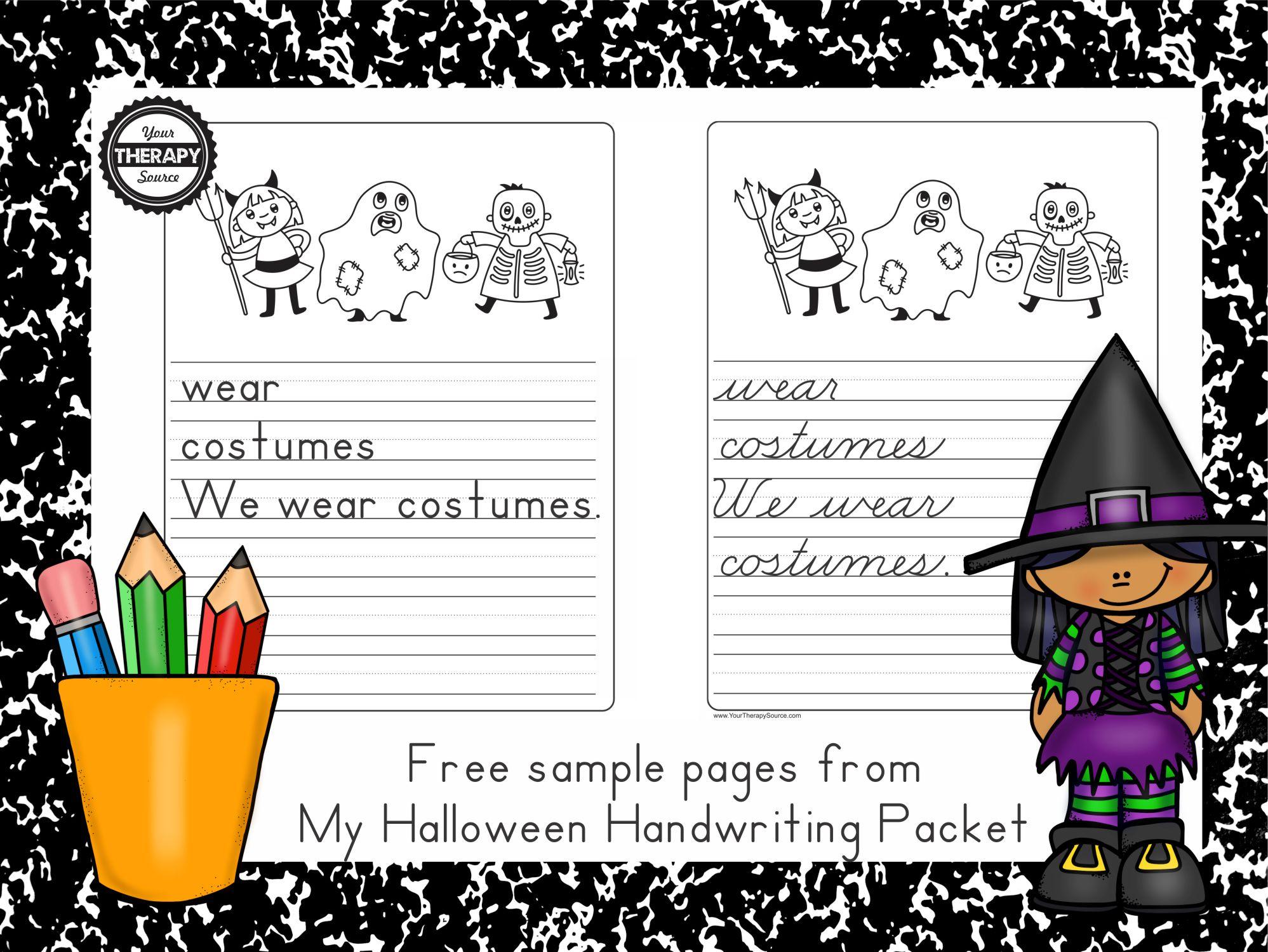 Worksheet ~ Handwriting Practiceee Worksheet My Halloween
