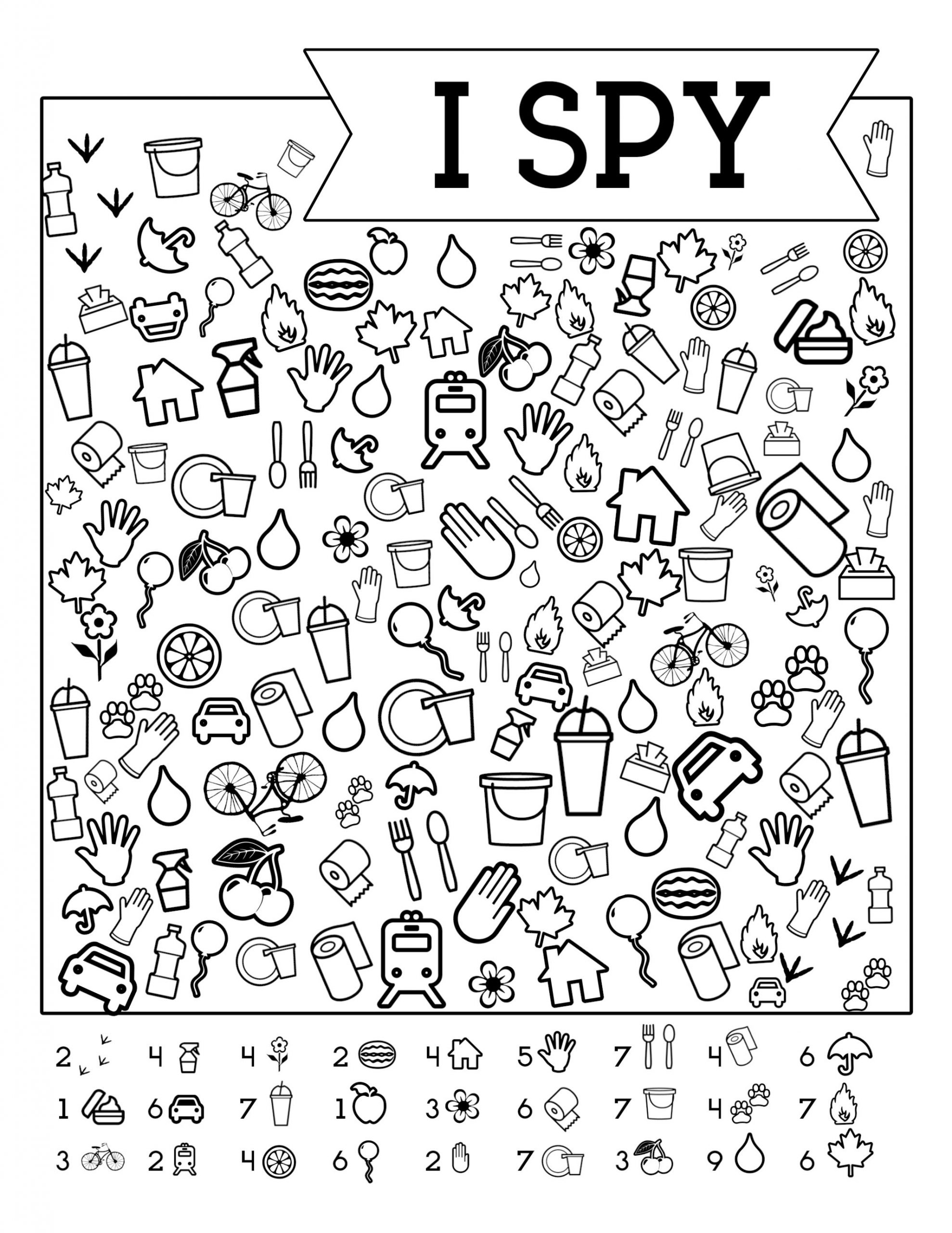 Worksheet I Spy Free Printable Kids Game Spiele Fur Kinder