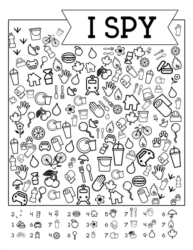 Worksheet I Spy Free Printable Kids Game Spiele Fur Kinder