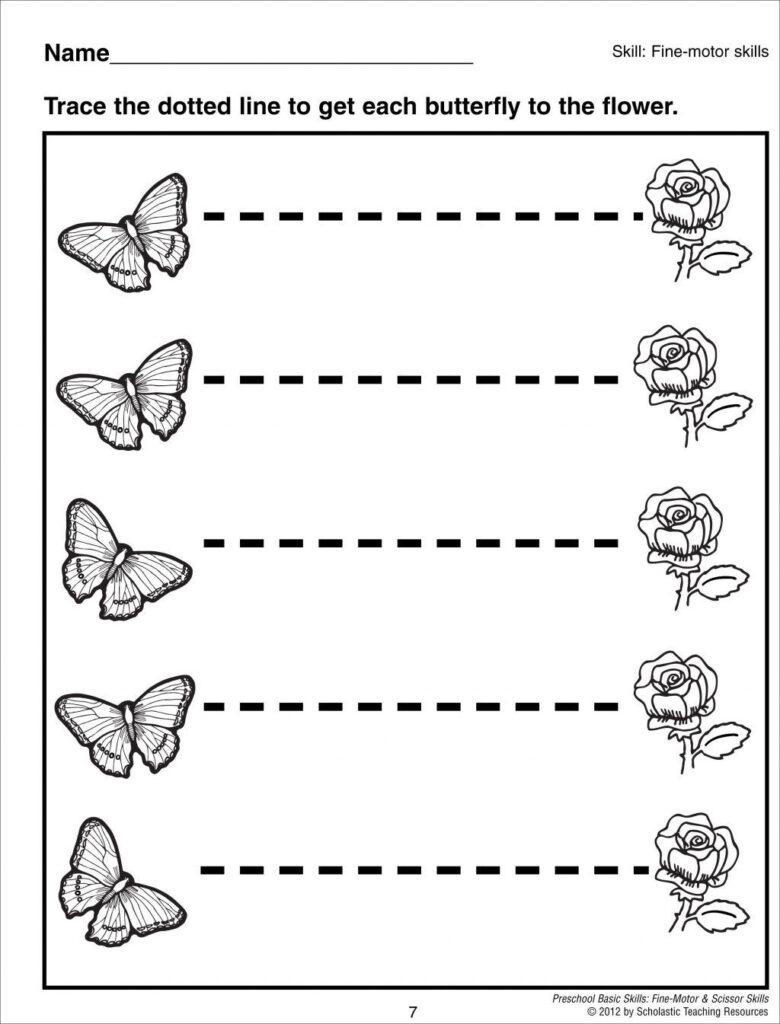 Worksheet Ideas ~ Tracing Lines Worksheets For Preschool In
