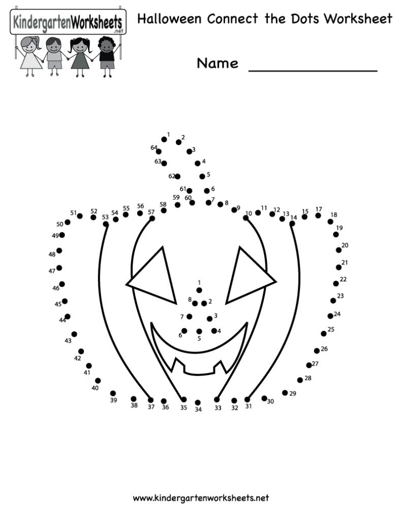 Worksheet ~ Kindergarten Halloween Connect The Dots