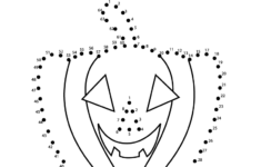 Worksheet ~ Kindergarten Halloween Connect The Dots