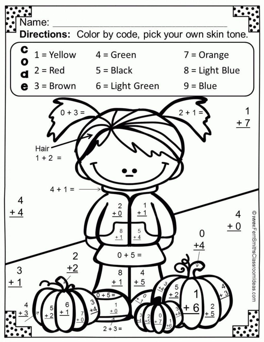 Worksheet ~ Marvelous Coloring Math Worksheets Photo Ideas