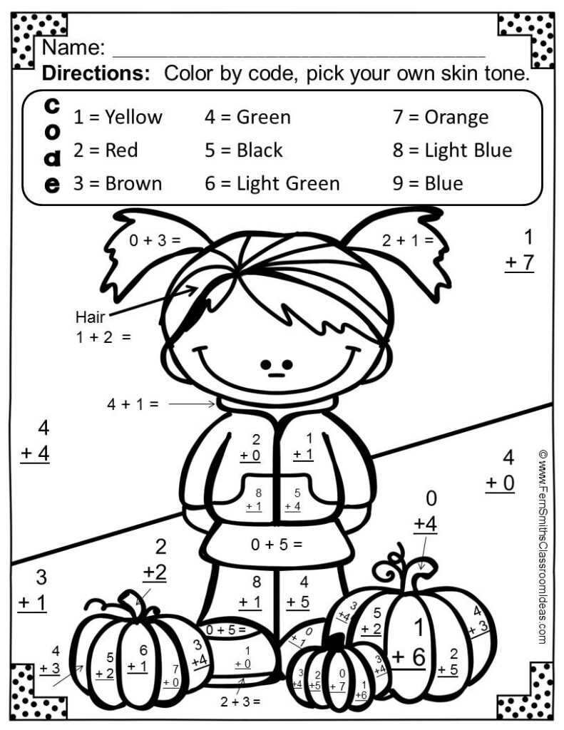 Worksheet ~ Math Coloring Pages Colornumber Addition