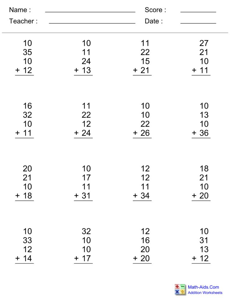 Worksheet ~ Math Worksheets For Grade Maths Addition