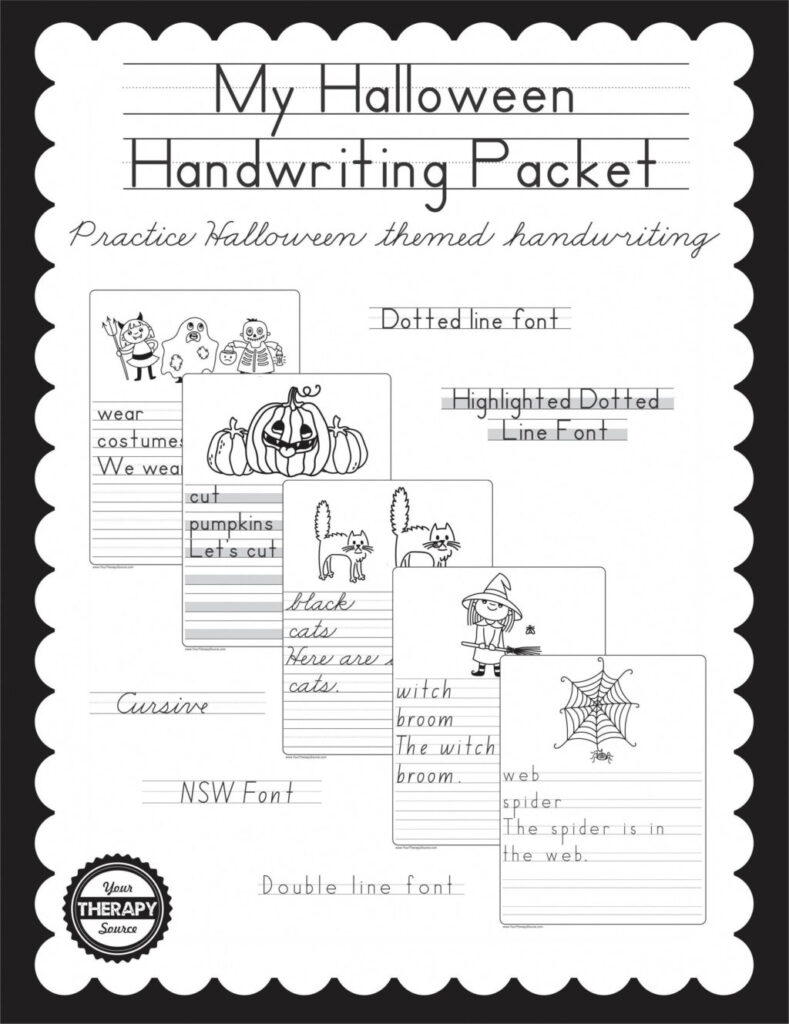 Worksheet My Halloween Handwriting Packet Practice With This