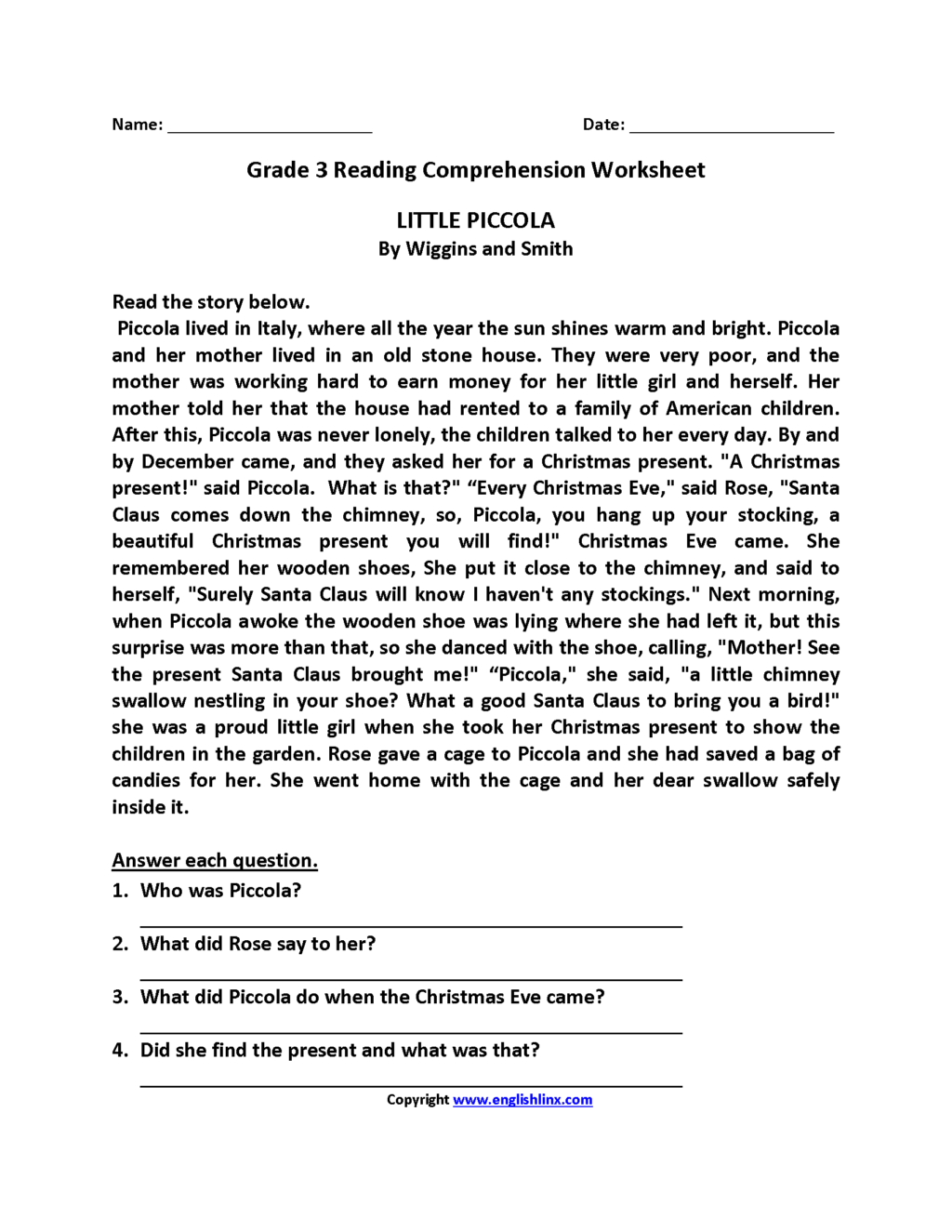 Worksheet ~ Outstanding Third Gradeading Worksheets