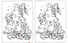 Christmas Spot The Difference Worksheet