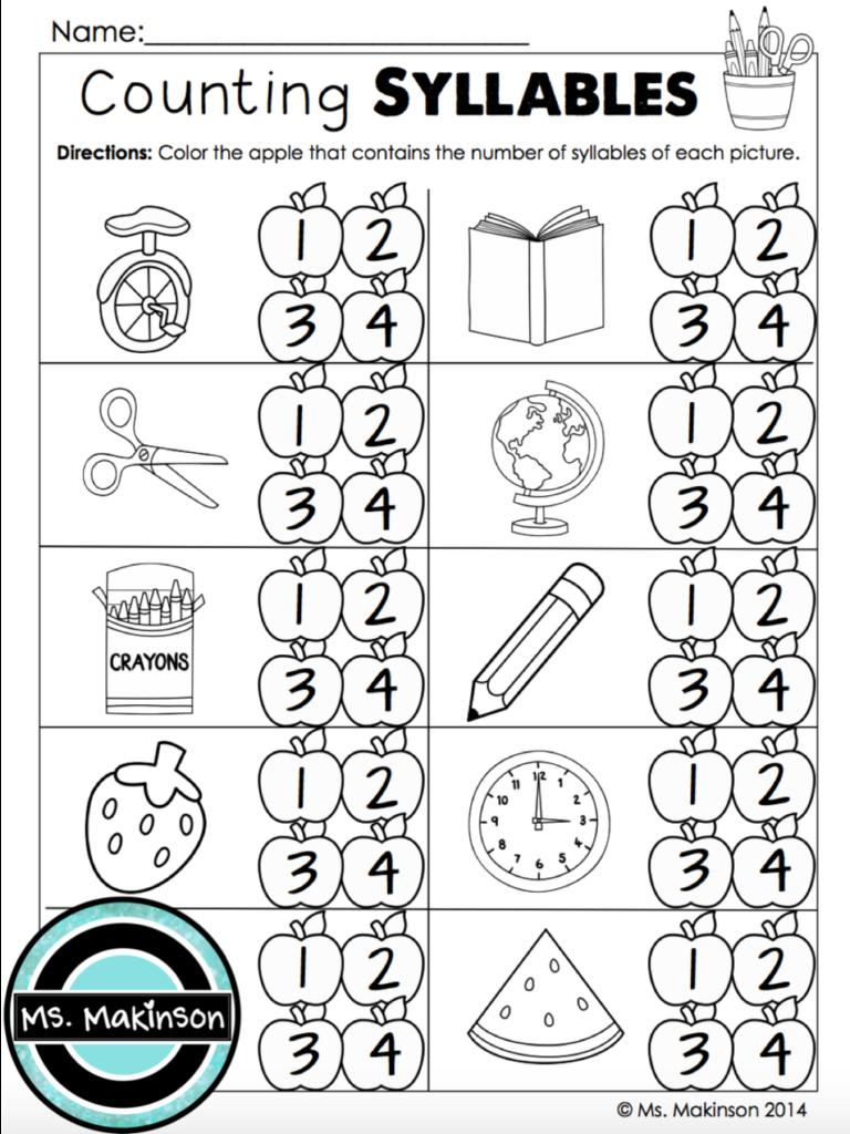 Worksheet ~ September Printables First Grade Literacy And