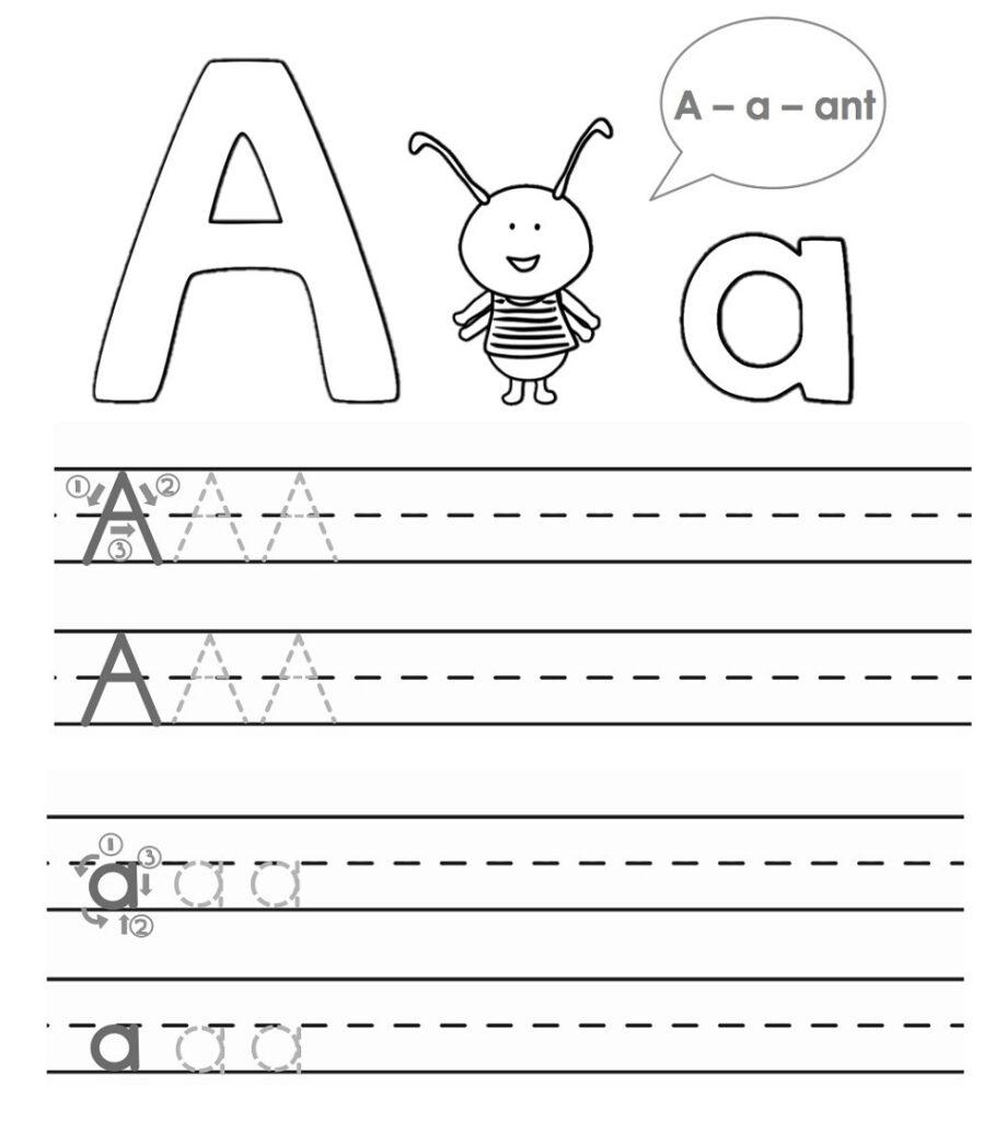 Worksheet Trace For Kids Alphabet Tracing Worksheets