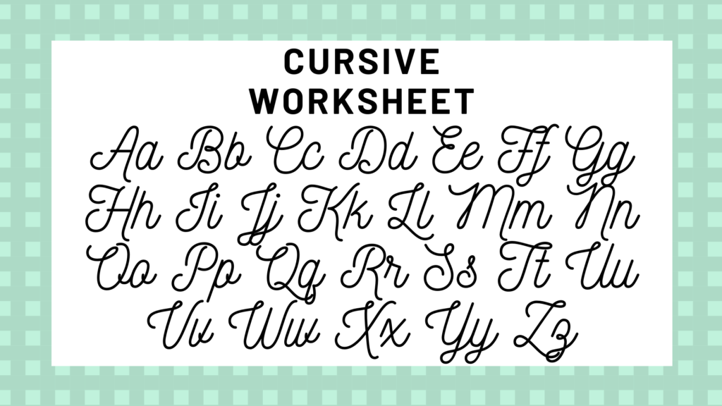Worksheet ~ Tracing Cursive Letters Staggering Rounding