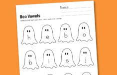 Halloween Short Vowel Worksheets