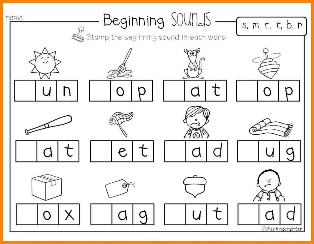 Worksheet ~ Wordfamily2 Phonics Worksheets Forten Image