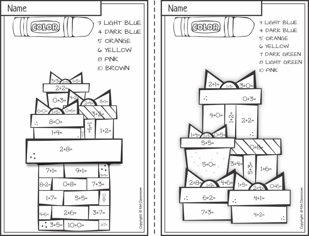 Worksheet ~ Worksheet Km Classroome Christmas Color
