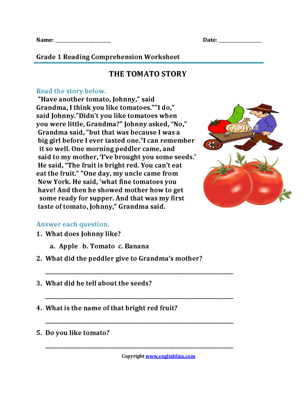 Free 5th Grade Christmas Reading Comprehension Worksheets ...