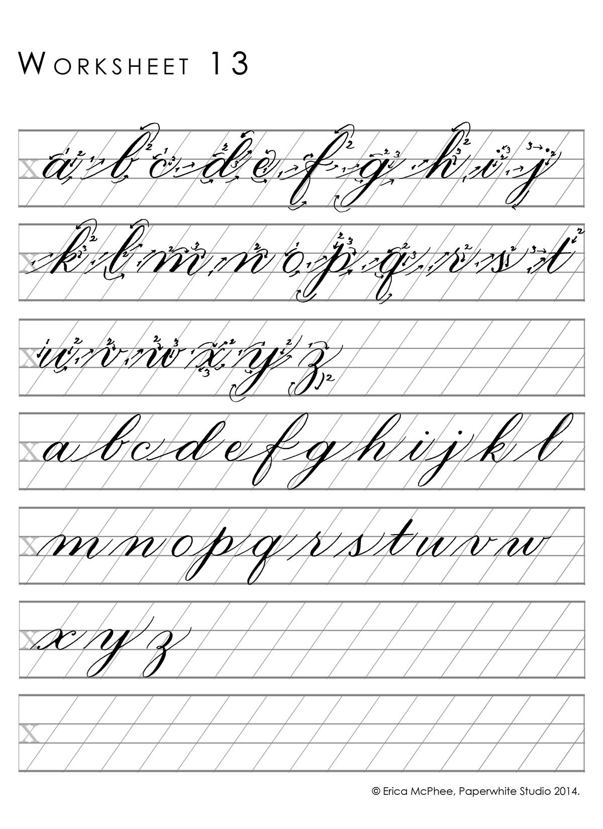 Worksheet13 (1200×1650)   Cursive Writing Worksheets
