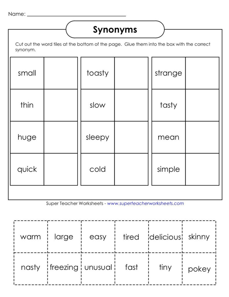 Worksheets : 47 Antonyms And Synonyms Worksheet Picture