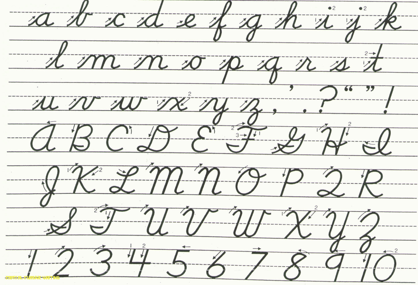 Worksheets : Cursive Alphabet Capital And Small Letter