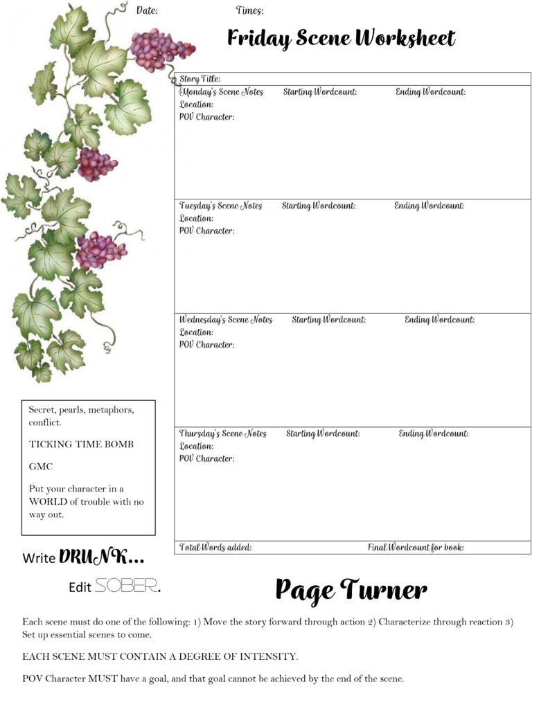 Worksheets For Romance Writers