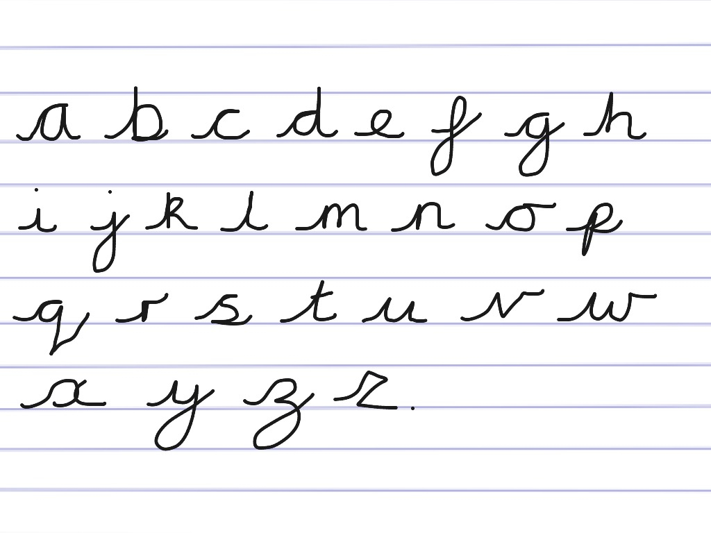 Worksheets : Handwriting Cursive Alphabet English Writing