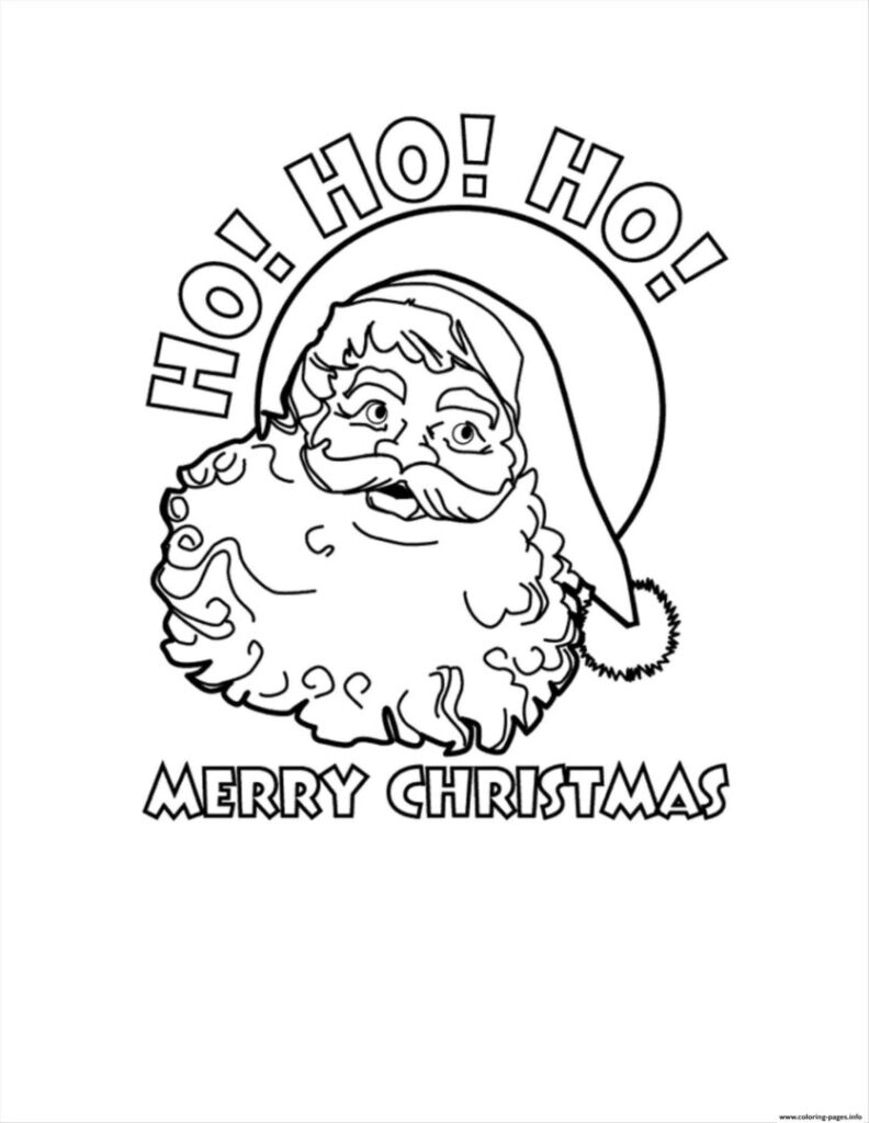 Worksheets : Santa Claus Merry Christmas Coloring Printable