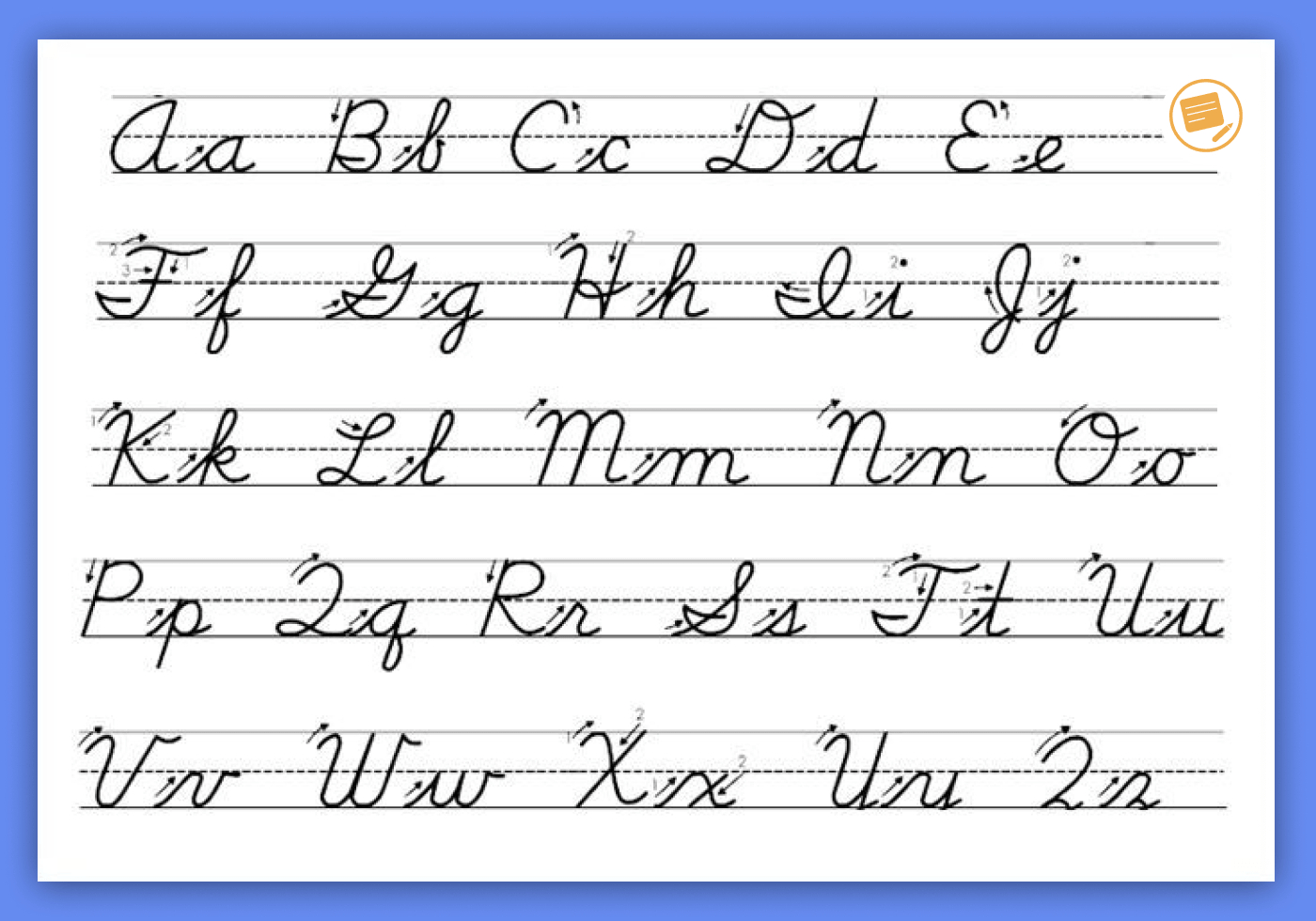 Worksheets : The Easiest Way Learn How Write Cursive