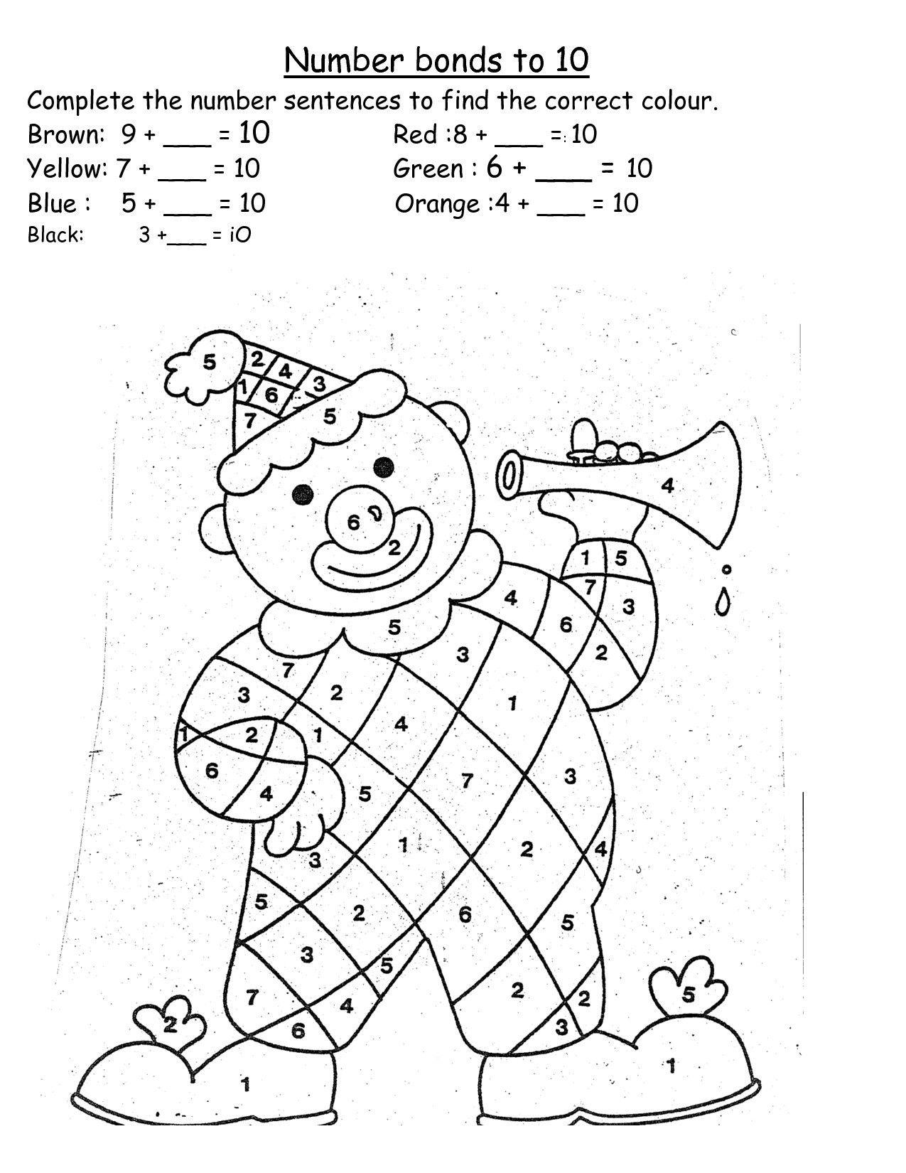 Worksheets : Worksheets On Number Bonds For Grade Printable