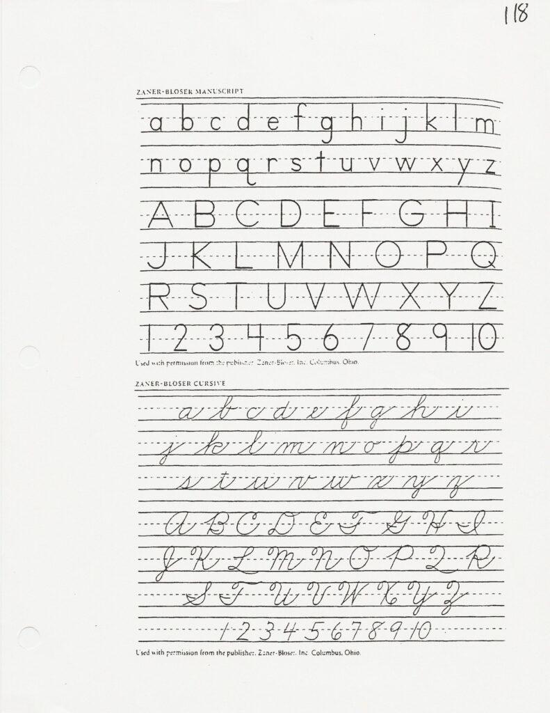 Worksheets : Zaner Bloser Handwriting Paper Huruf Free