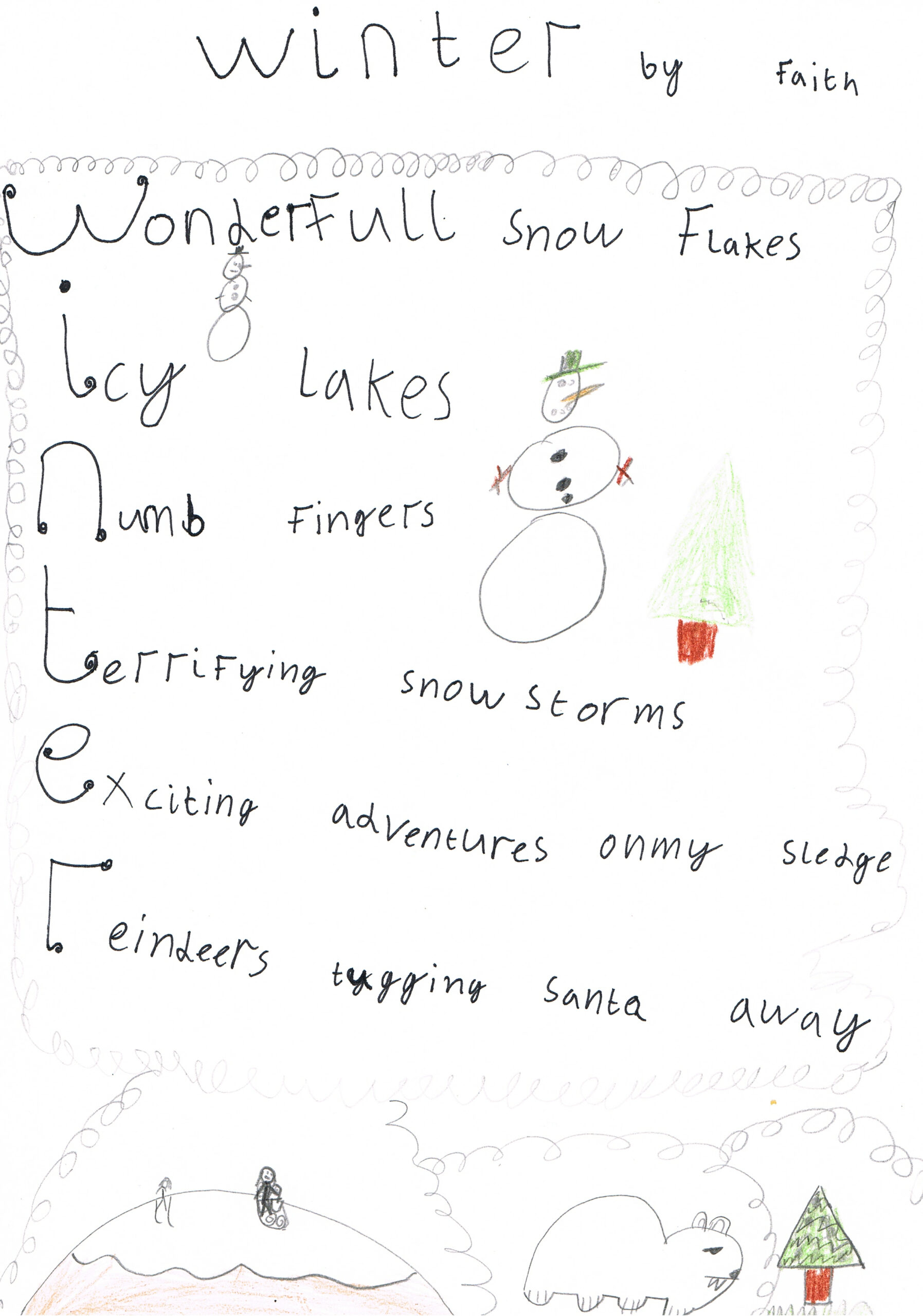 Write An Acrostic Poem About Christmas
