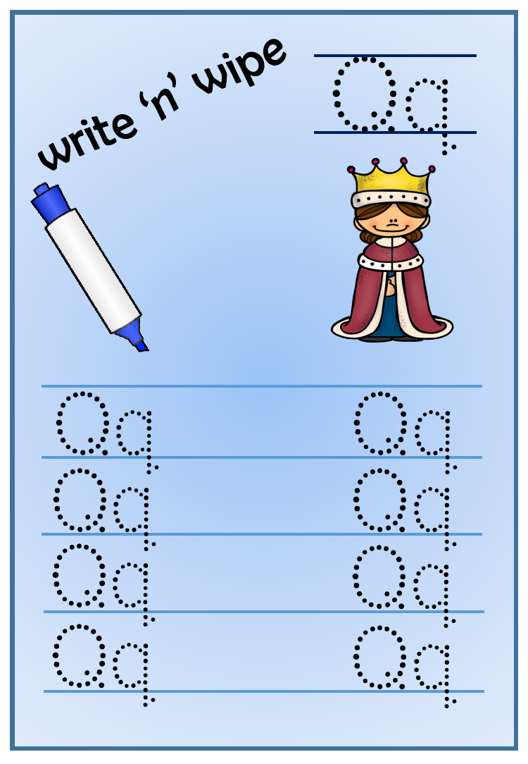 Write N Wipe The Alphabet | Teaching Resources, Writing in Alphabet Handwriting Worksheets Tes