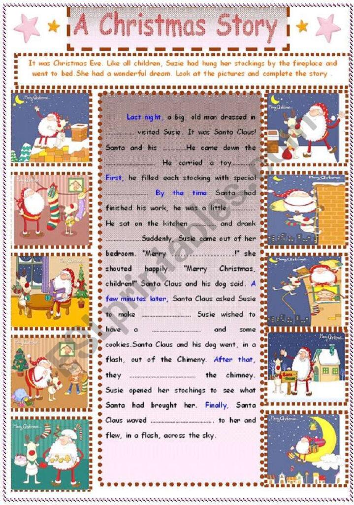 Writing : A Christmas Story   Esl Worksheetsruggy