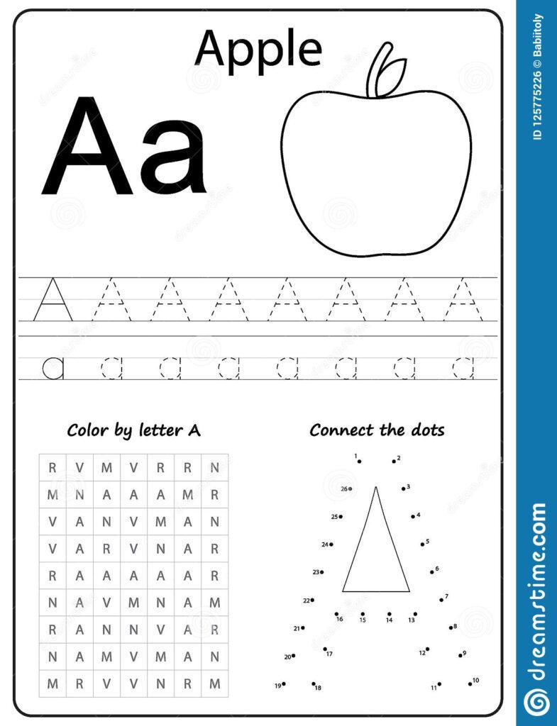 Writing Letter Worksheet Alphabet Exercises Game Worksheets Pertaining To Letter A Worksheets For Toddlers