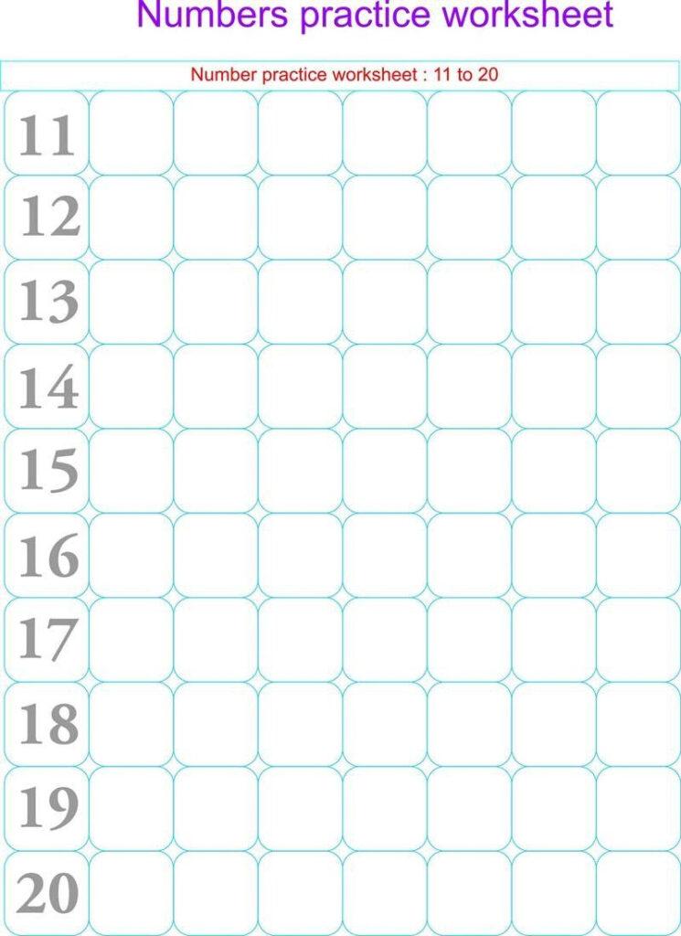Writing Numbers To 20 Worksheets Numbers Practice Worksheets