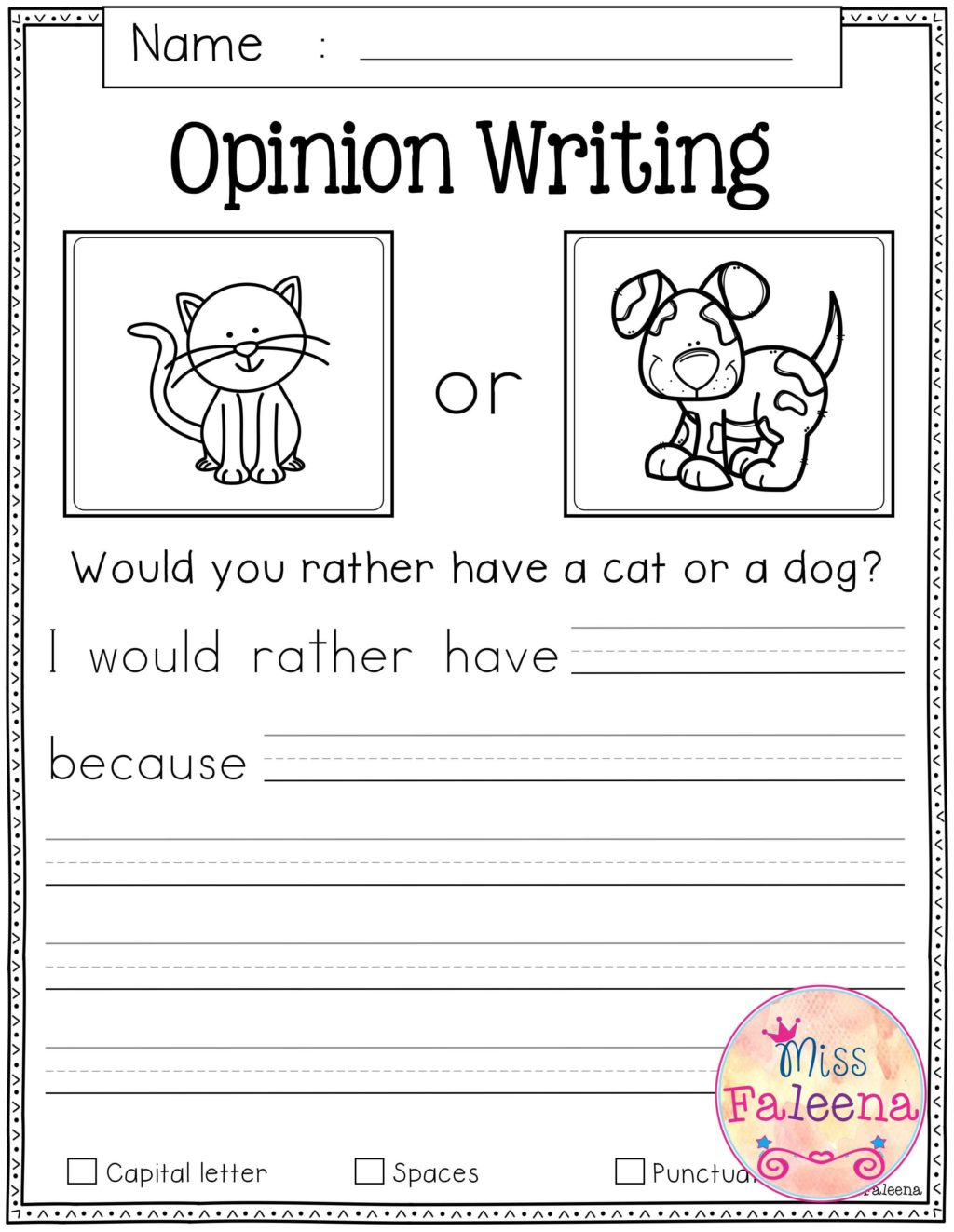 Writing Worksheets For Kindergarten Guided Activities At