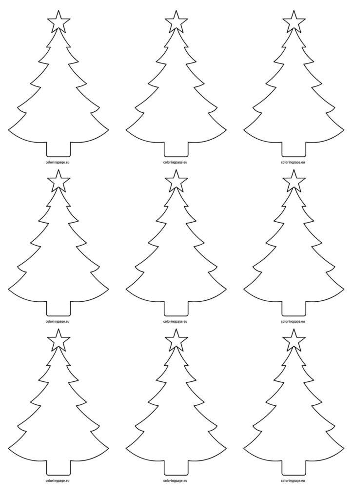 Xmas Tree Cut Out Worksheet | Printable Worksheets And