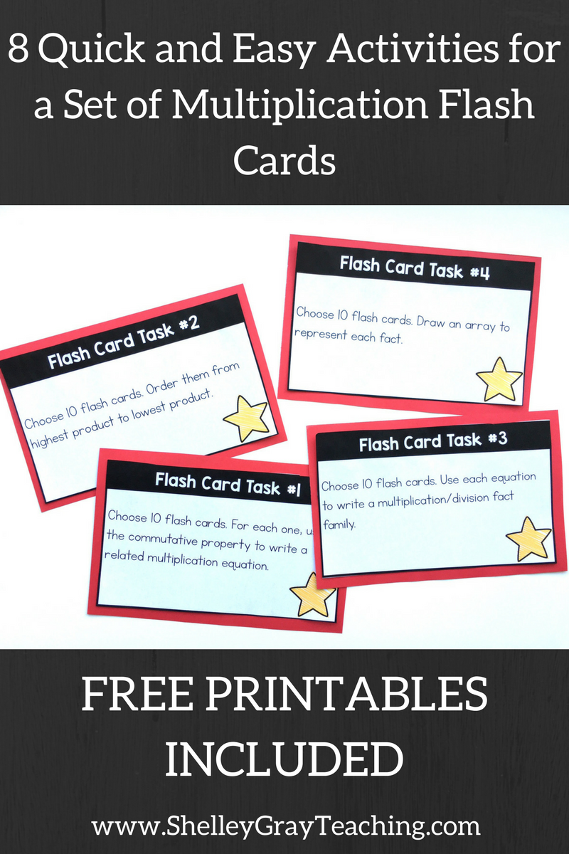 Activities For A Set Of Multiplication Flash Cards - Shelley