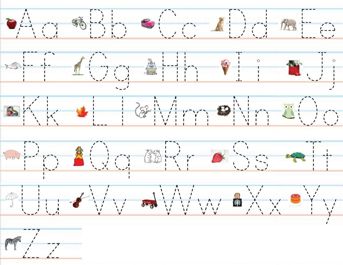 Alphabet Practice Worksheets To Print | Alphabet Practice
