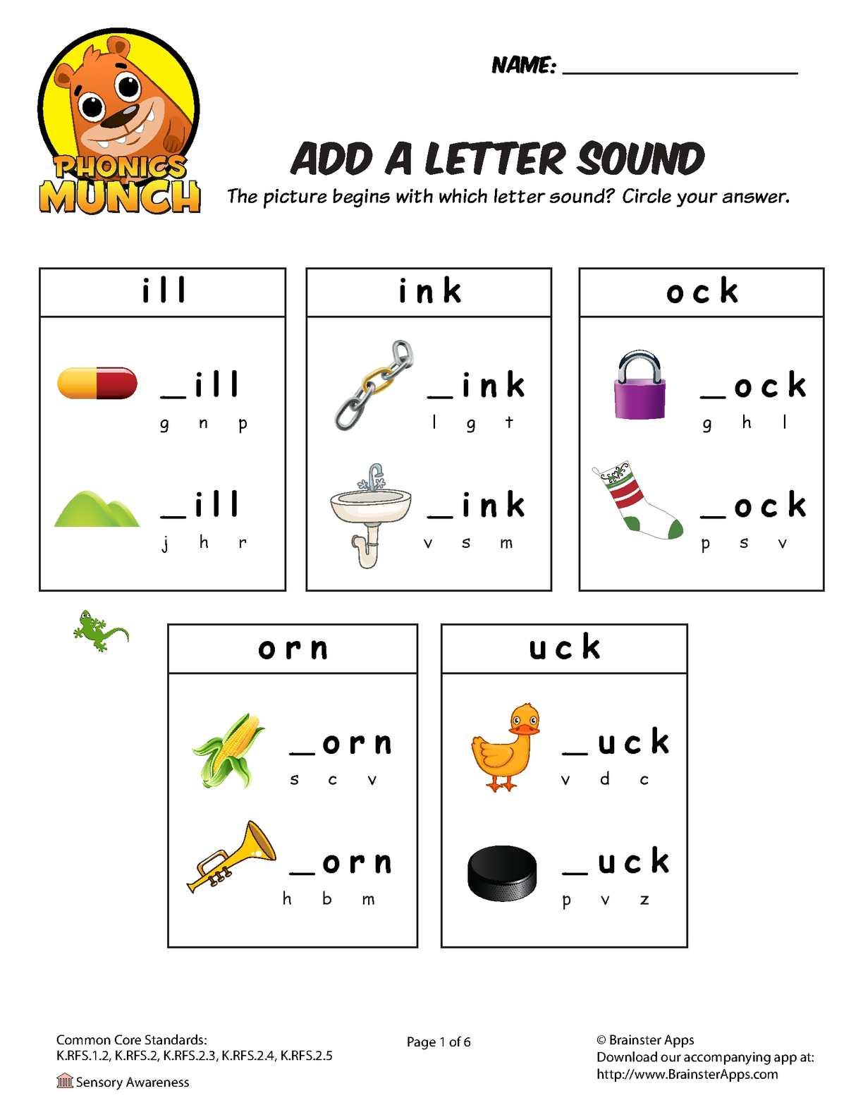 Calaméo - Add A Letter Sound Phonics Worksheet