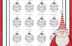 Christmas Themed Math Worksheets 5th Grade