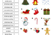 French Christmas Vocabulary Worksheets