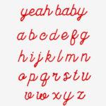 Cursive Font   Pattern   Free Embroidery Patterns   Cursive