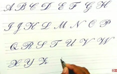 Cursive Writing Calligraphy A To Z Capital Letters For