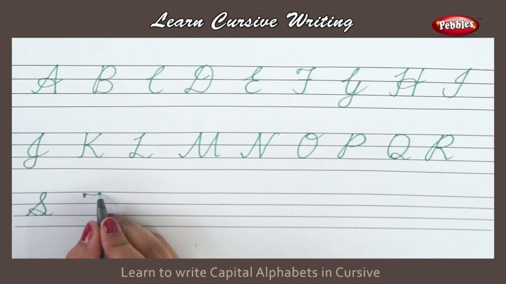 Cursive Writing | How To Write Capital Alphabets In Cursive | Alphabets  Cursive Handwriting Letters