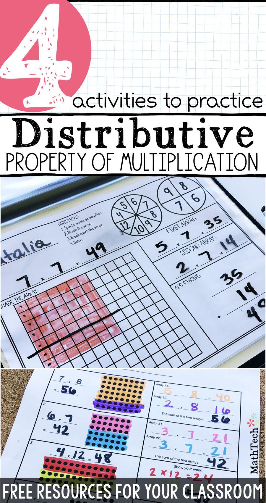 Distributive Property Of Multiplication - Free Printables