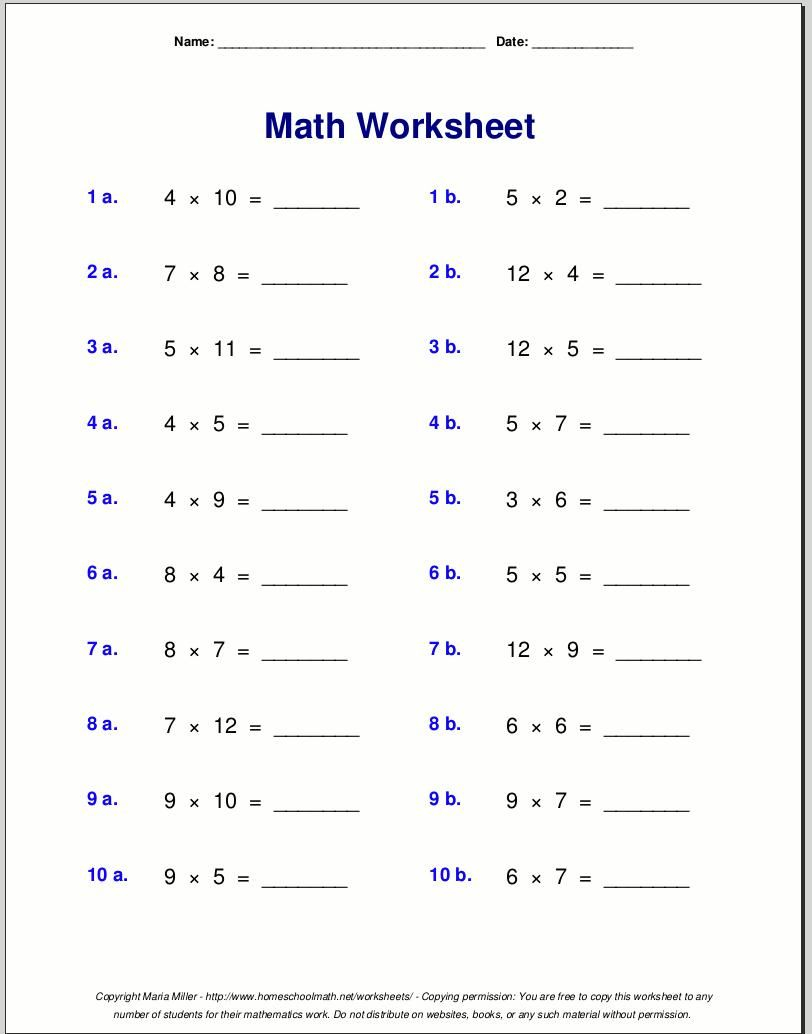 Easy Multiplication Worksheets With Pictures | 4Th Grade