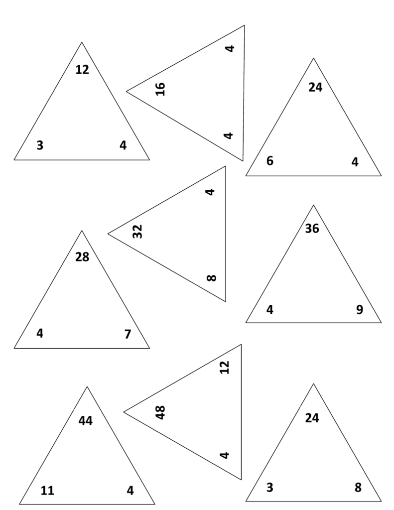 Fact Family Worksheets Printable | Fact Triangles, Triangle