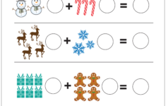 Christmas Counting Worksheets For Kindergarten