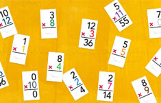 Multiplication Flash Cards 12 Printable