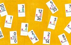 Multiplication Flash Cards 12 Printable