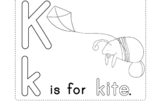 K Letter Worksheets Kindergarten